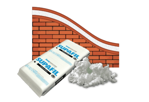 Blow-in - Masonry (double brick) - Supafil CarbonPlus (For double brick masonry cavities)